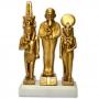 Réplica Museu Egípcio - Tríade Divina, Ptah, Sekhmet, Nefertum