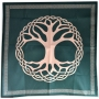 Toalha Aveludada Árvore da Vida (VERDE)