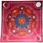 Toalha de Veludo Pentagrama vermelho