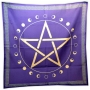 Toalha Pentagrama com Fases da Lua - Roxa