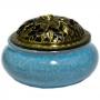 Turíbulo de Cerâmica - Azul