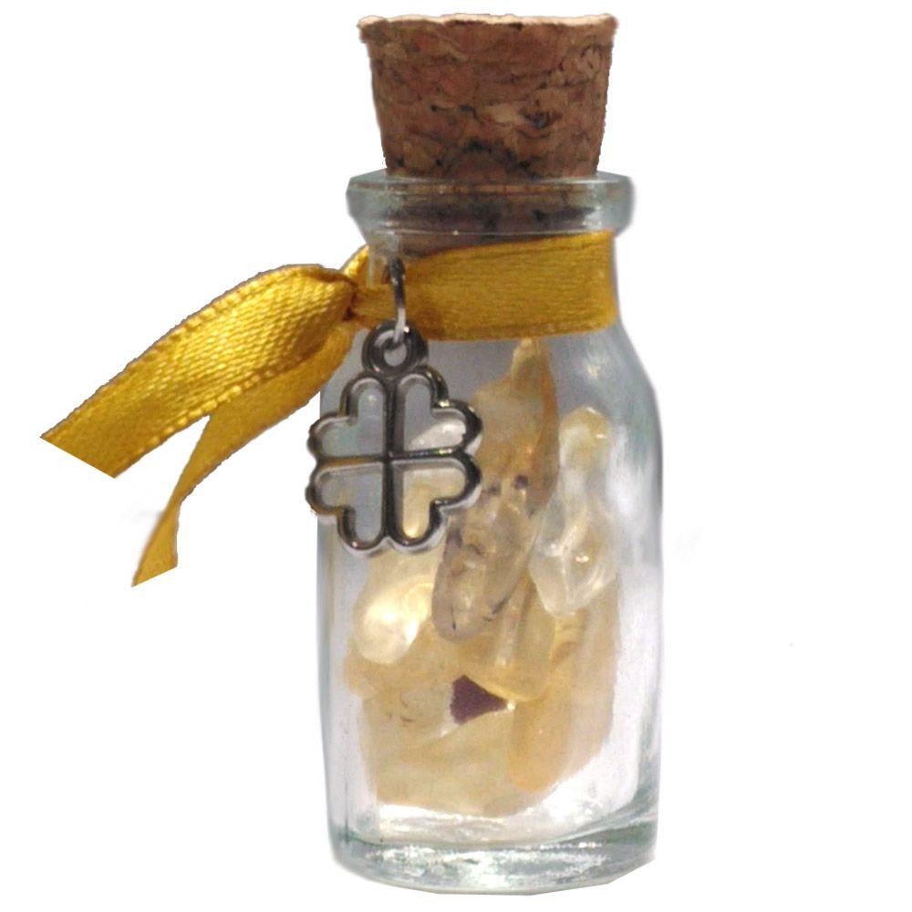 Amuleto com Cristais - Citrino