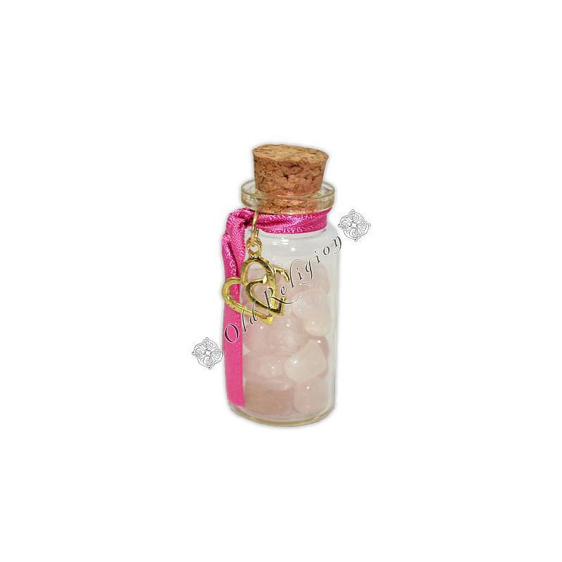 Amuleto com Cristais - Quartzo Rosa