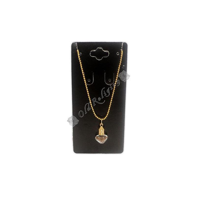 Amuleto Garrafinha Coração - Canela Dourado