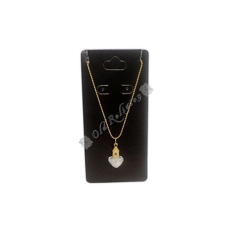 Amuleto Garrafinha Coração - Sal Grosso Dourado Modelo 1