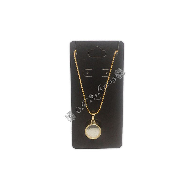 Amuleto Quartzo - Dourado