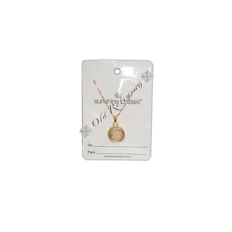Amuleto Sal Grosso - Dourado Médio