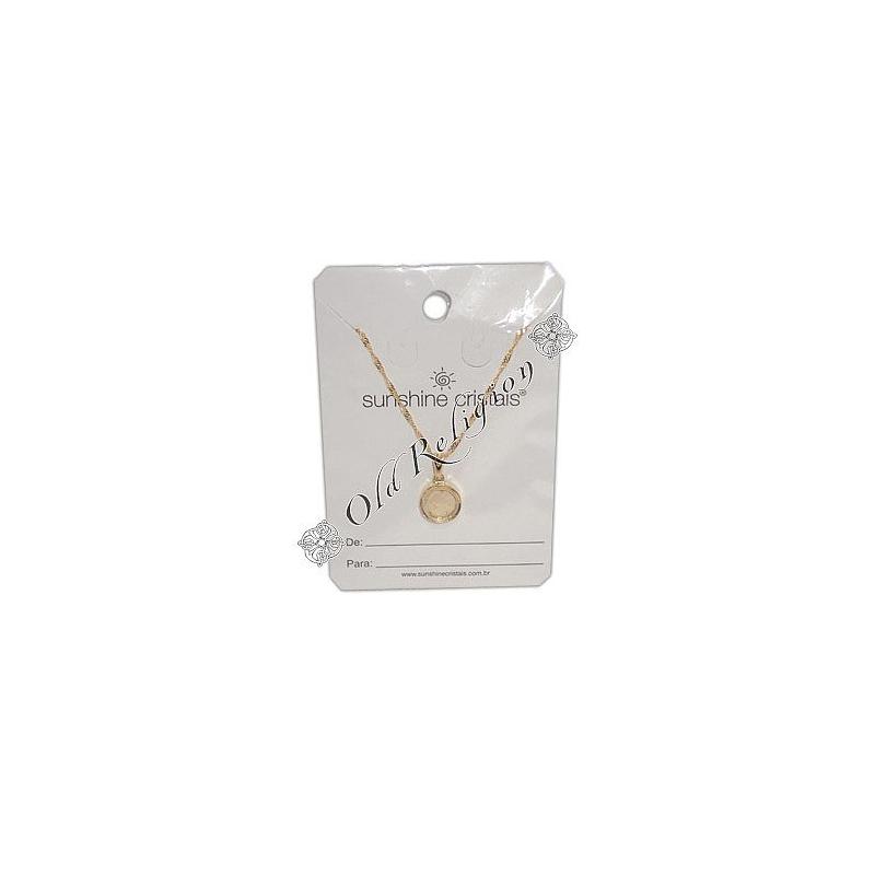 Amuleto Sal Grosso - Dourado Pequeno