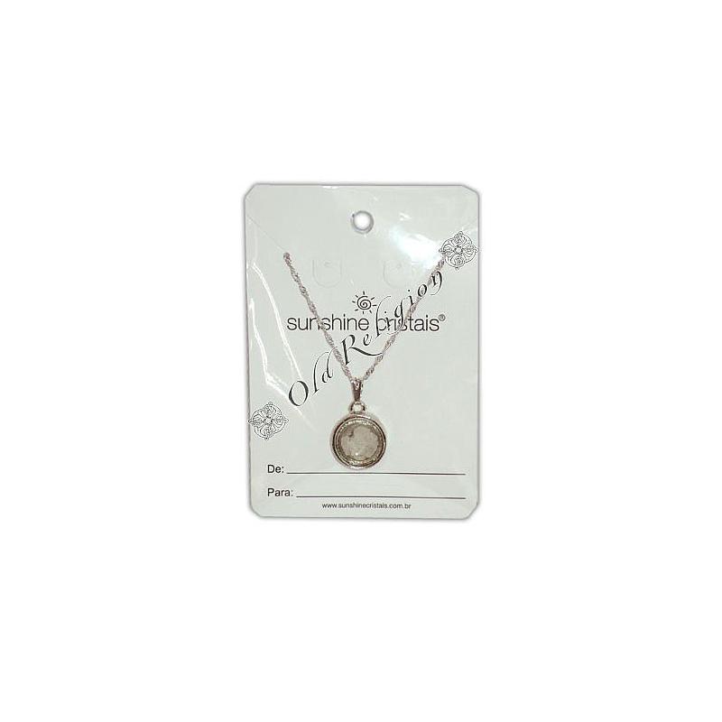 Amuleto Sal Grosso - Prateado Médio