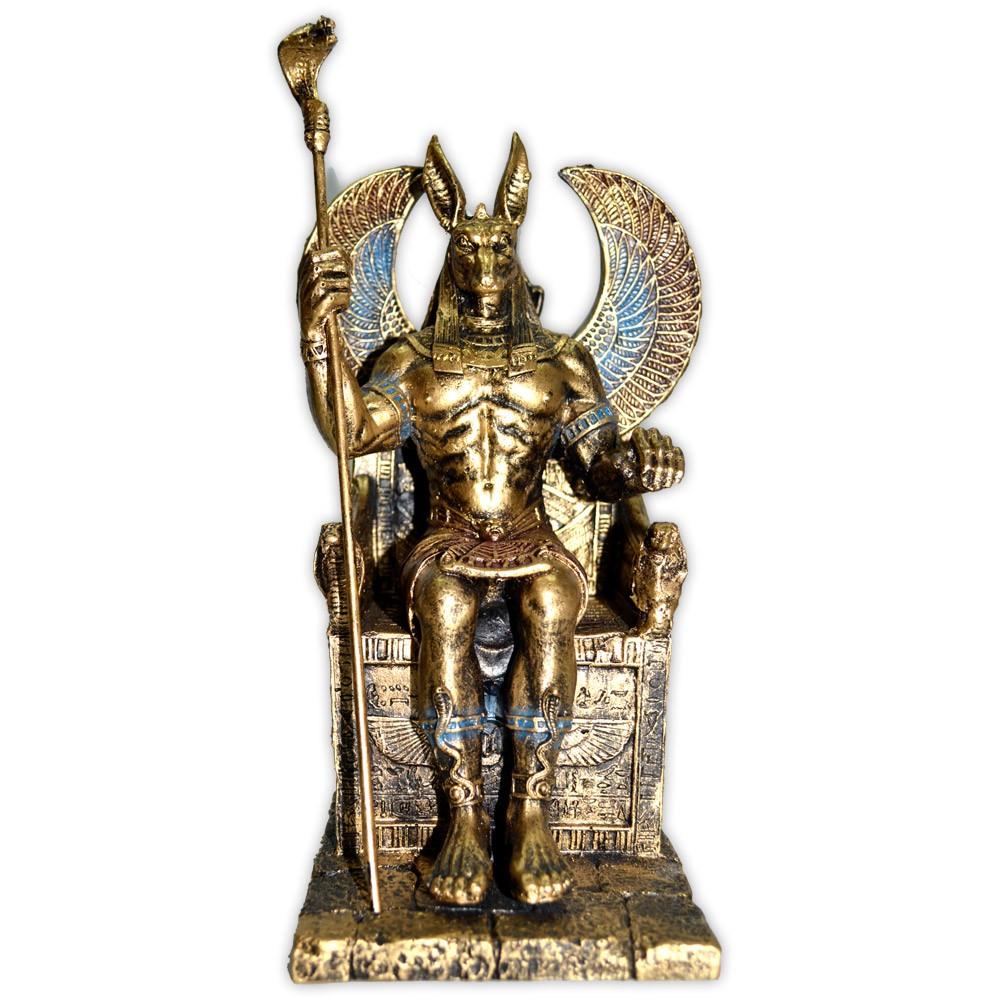 Deus Anúbis no Trono - Dourado