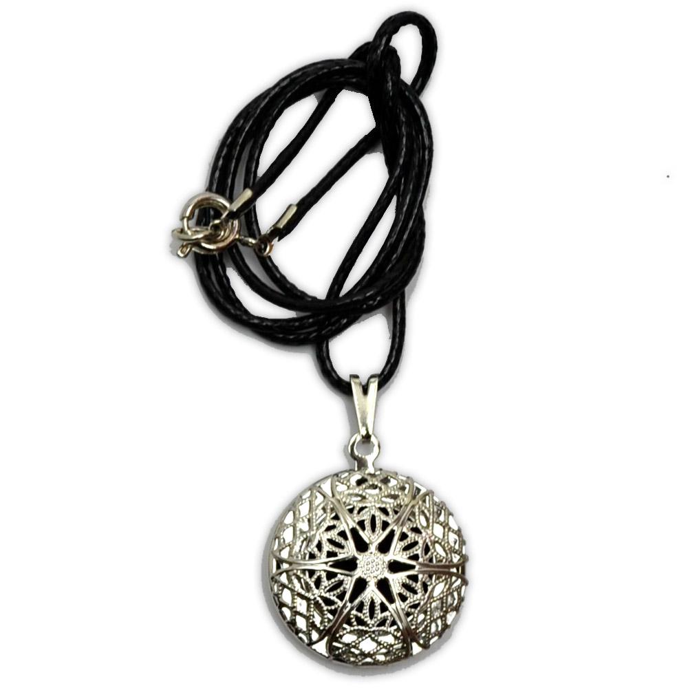 Aromatizador Pessoal Mandala - Prateado com Cordão
