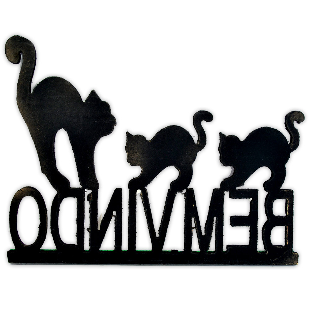 Bem vindo - gato preto