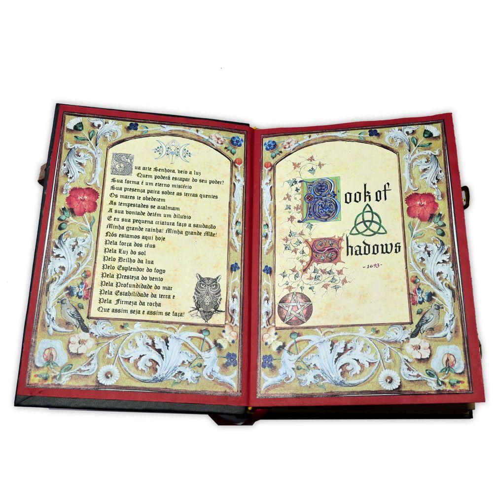 Book Of Shadows Encadernação Medieval 250pg. - Pentagrama