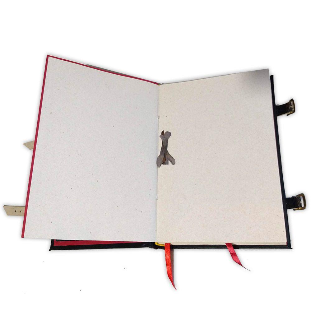 Book Of Shadows Encadernação Medieval 400pg. - Lua Pentagrama