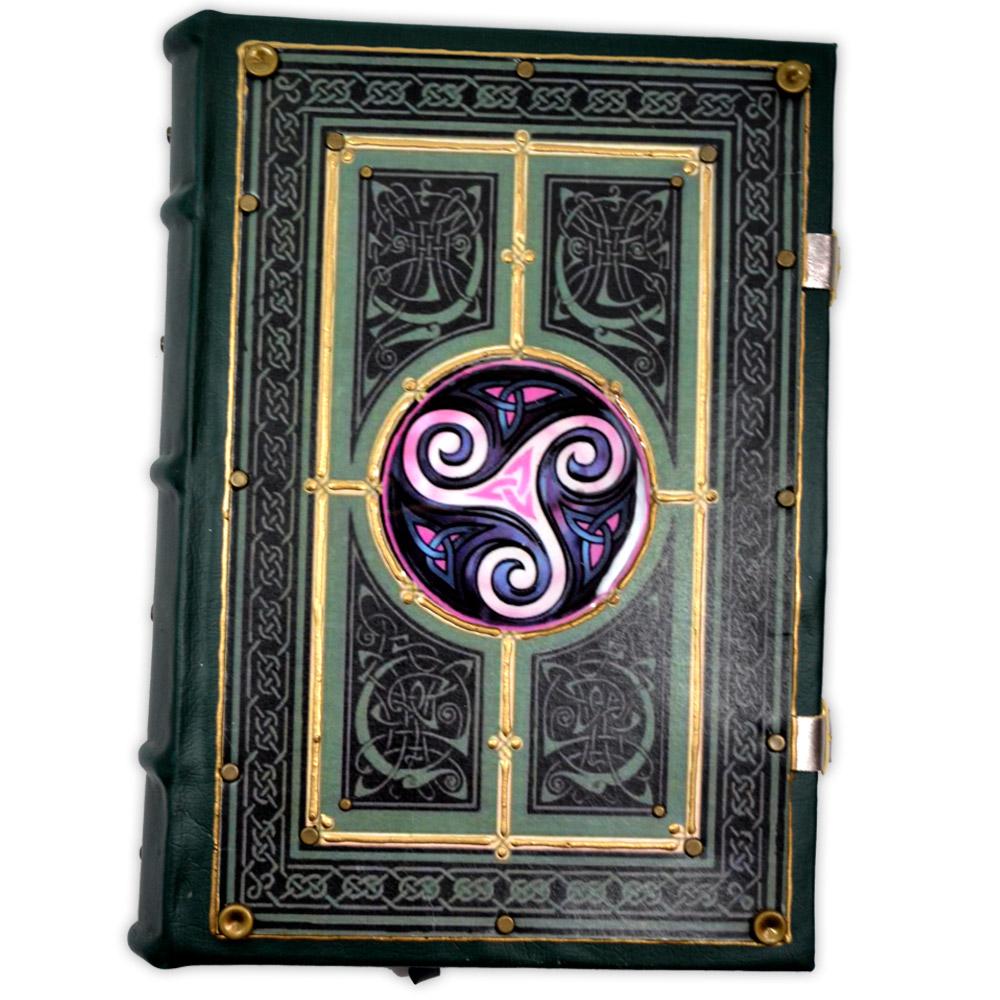 Book Of Shadows Encadernação Medieval 400pg. sem pauta - Triskle mod. 2