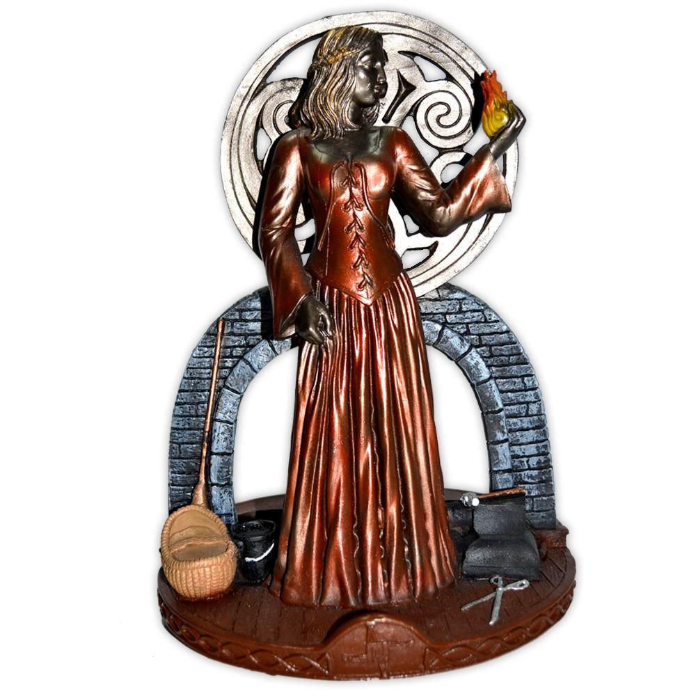 Deusa Brigit Castiçal - Colorida
