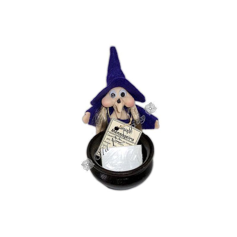 Bruxa Mensageira (com caldeirão de barro)