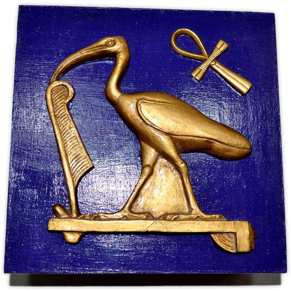 Caixa Egípcia Deus Thoth - Azul Grande