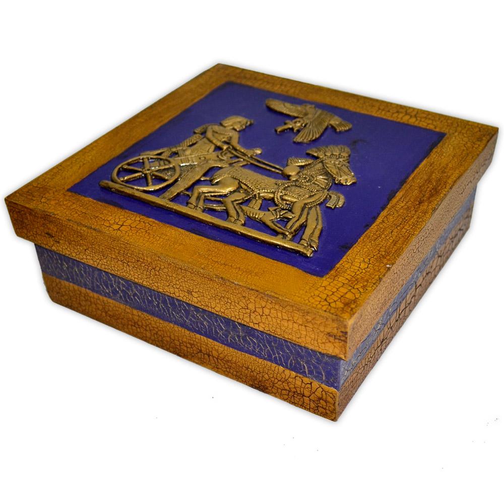 Caixa Egípcia Grande Azul - Tutankhamon