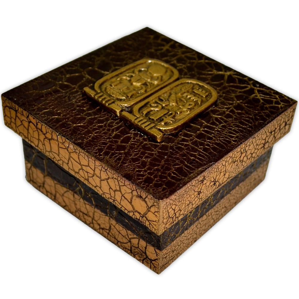Caixa Egípcia Tutankhamon - Marrom Pequena