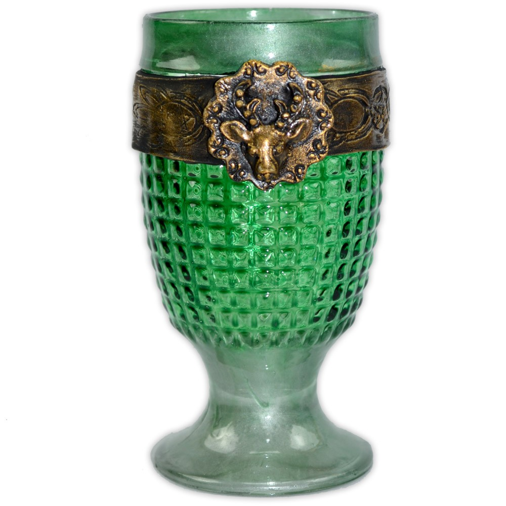 Cálice Medieval - Deus Verde e Dourado