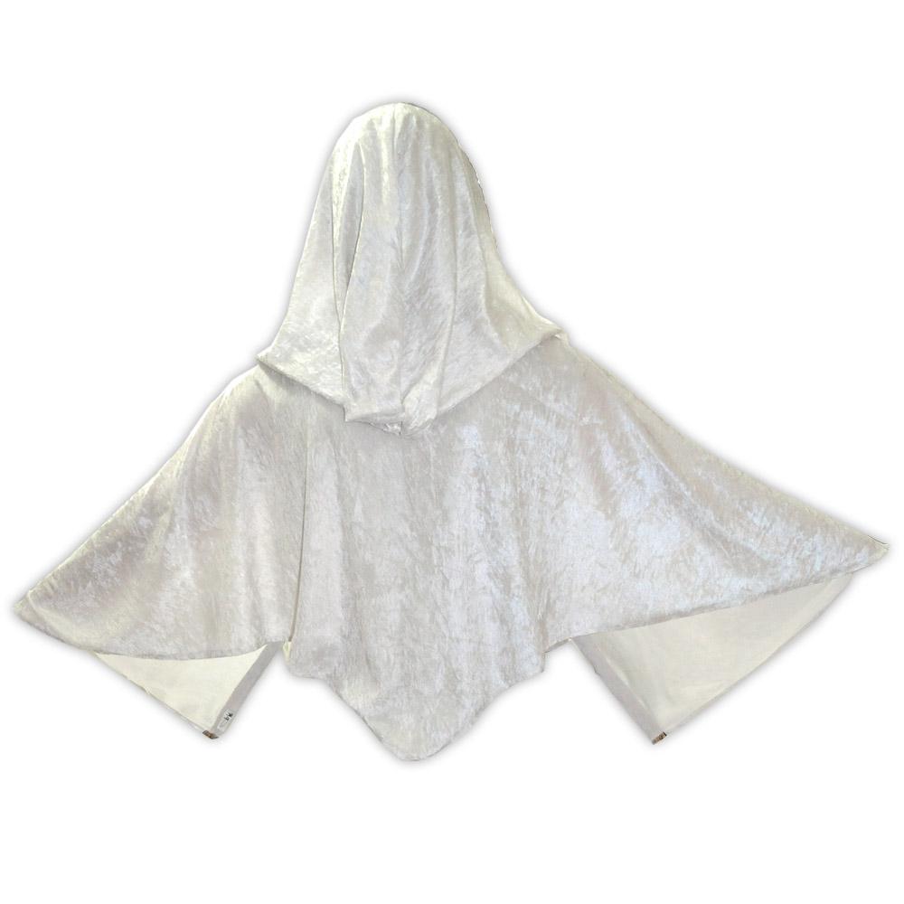 Capa veludo curta - branca