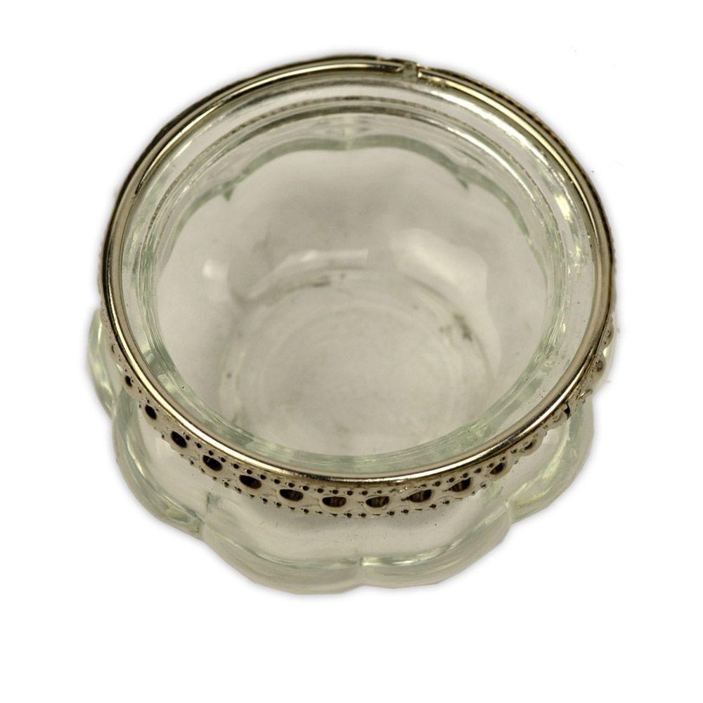 Castiçal de Vidro peq - Transparente