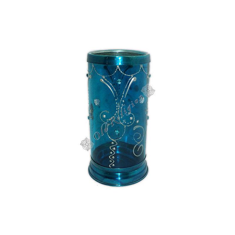 Castiçal Decorado para Vela 7 Dias - Azul