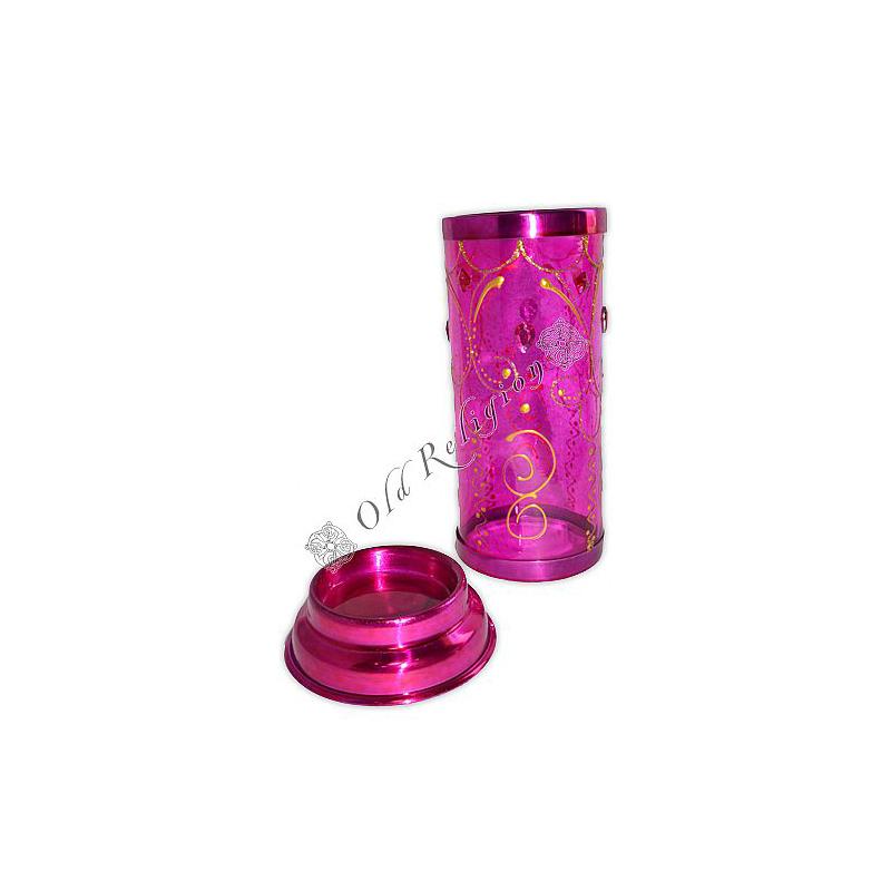 Castiçal Decorado para Vela 7 Dias - Pink