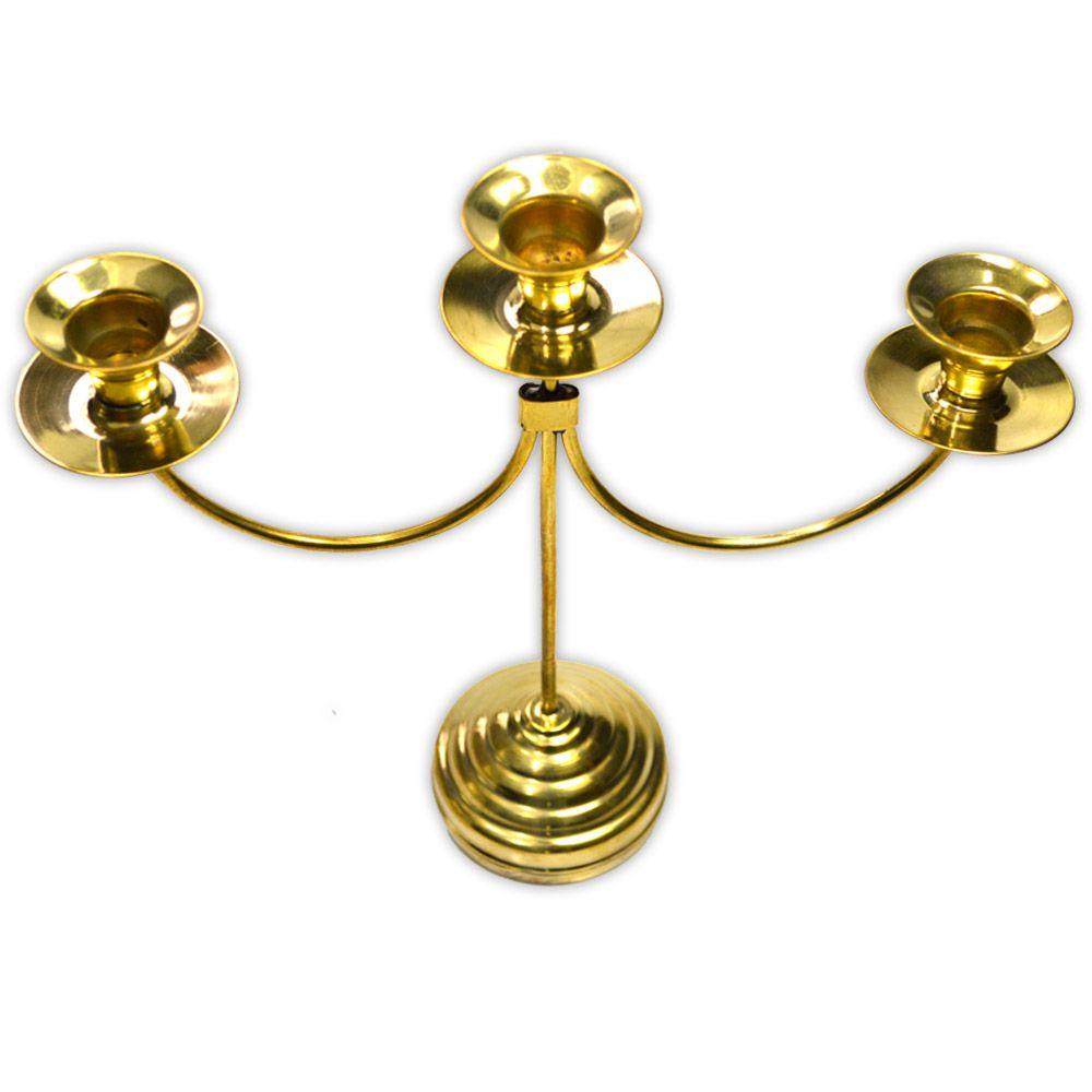 Castiçal Dourado Trio
