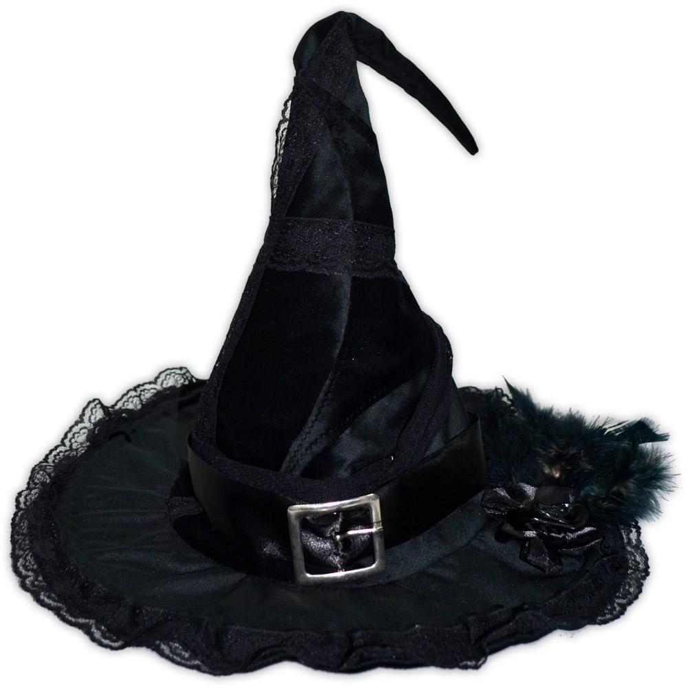 Chapéu de Bruxa - Preto modelo 11