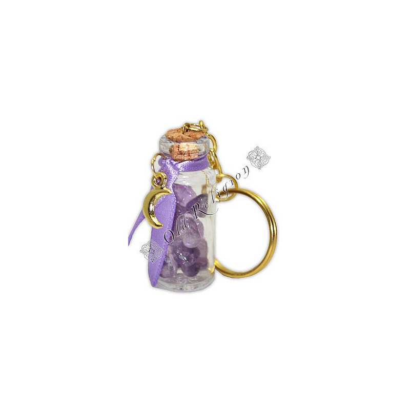 Chaveiro Amuleto de Cristal - Ametista