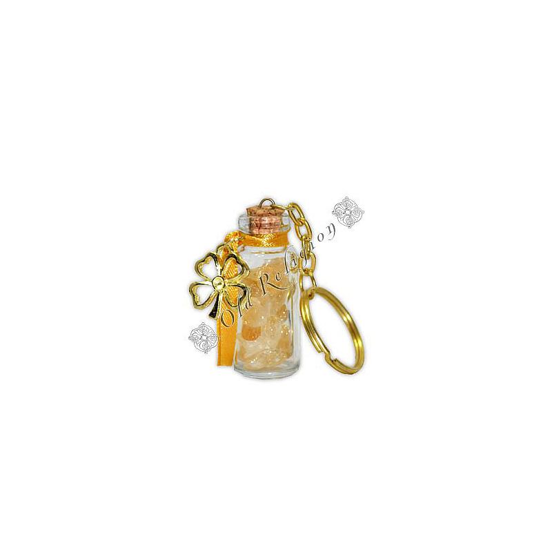Chaveiro Amuleto de Cristal - Citrino