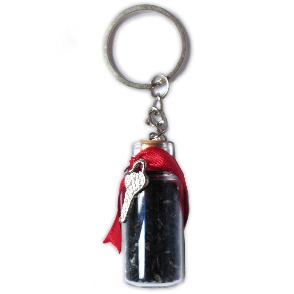 Chaveiro Amuleto de Cristal - Turmalina Negra