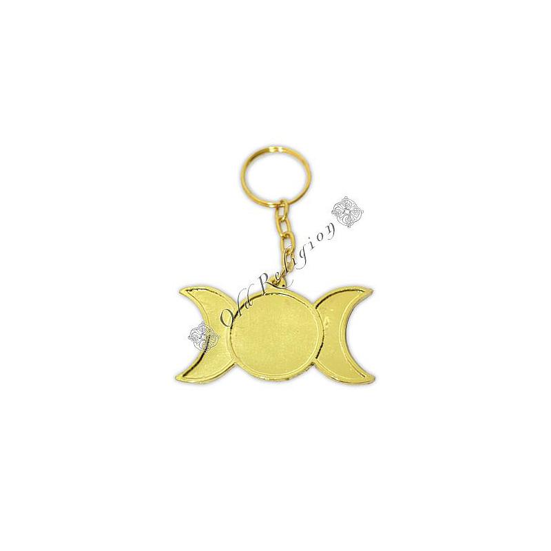 Chaveiro Triluna - Dourado