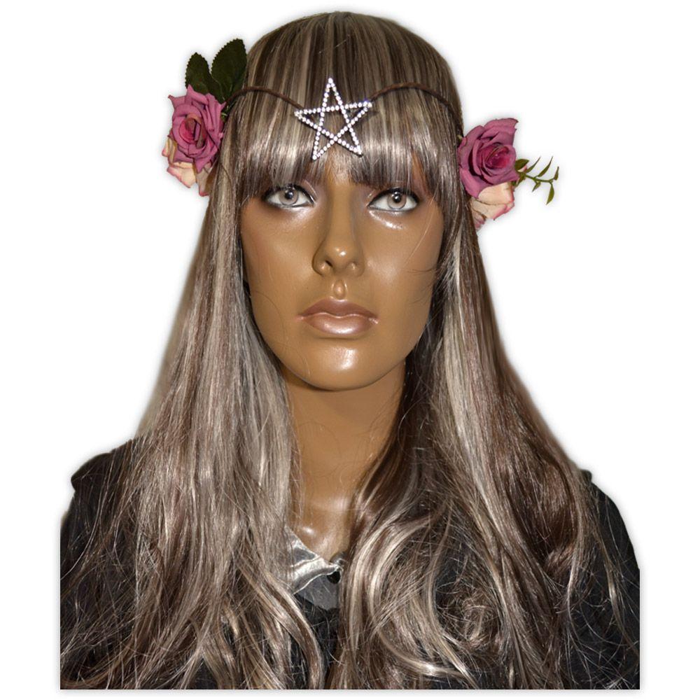 Circlet Estrela com Flores Rosa