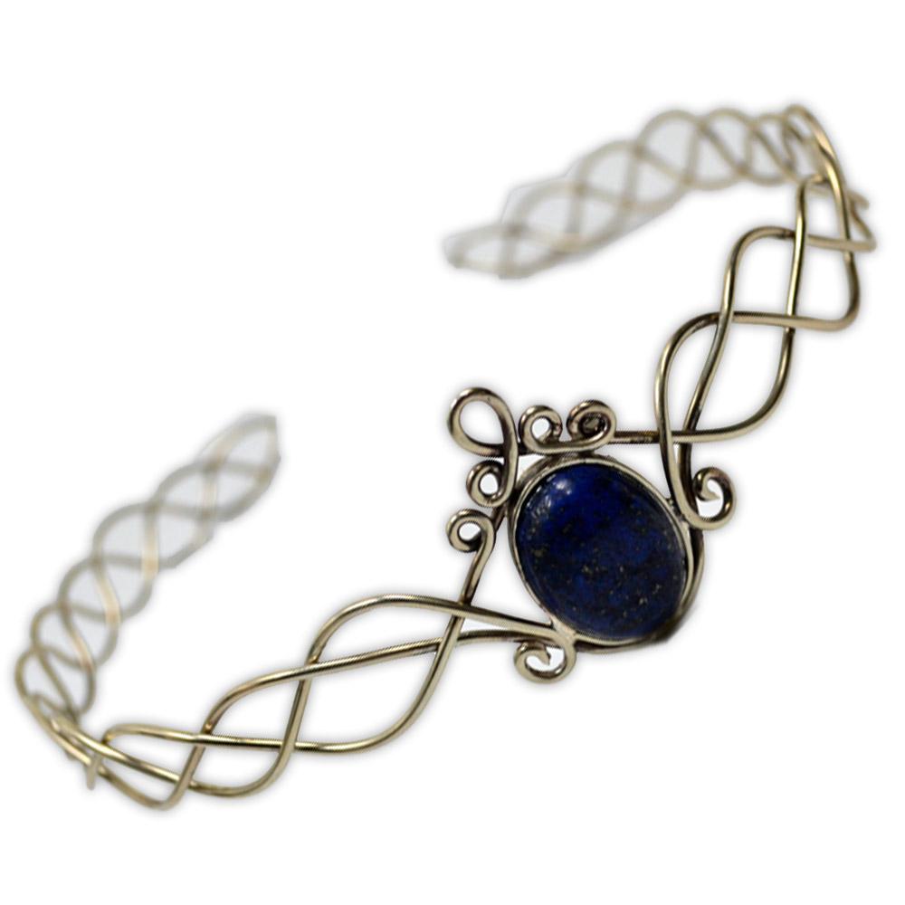 Circlet Prata Alemã com Lápis Lazuli