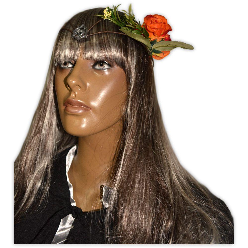 Circlet Triquetra com Flores Laranja