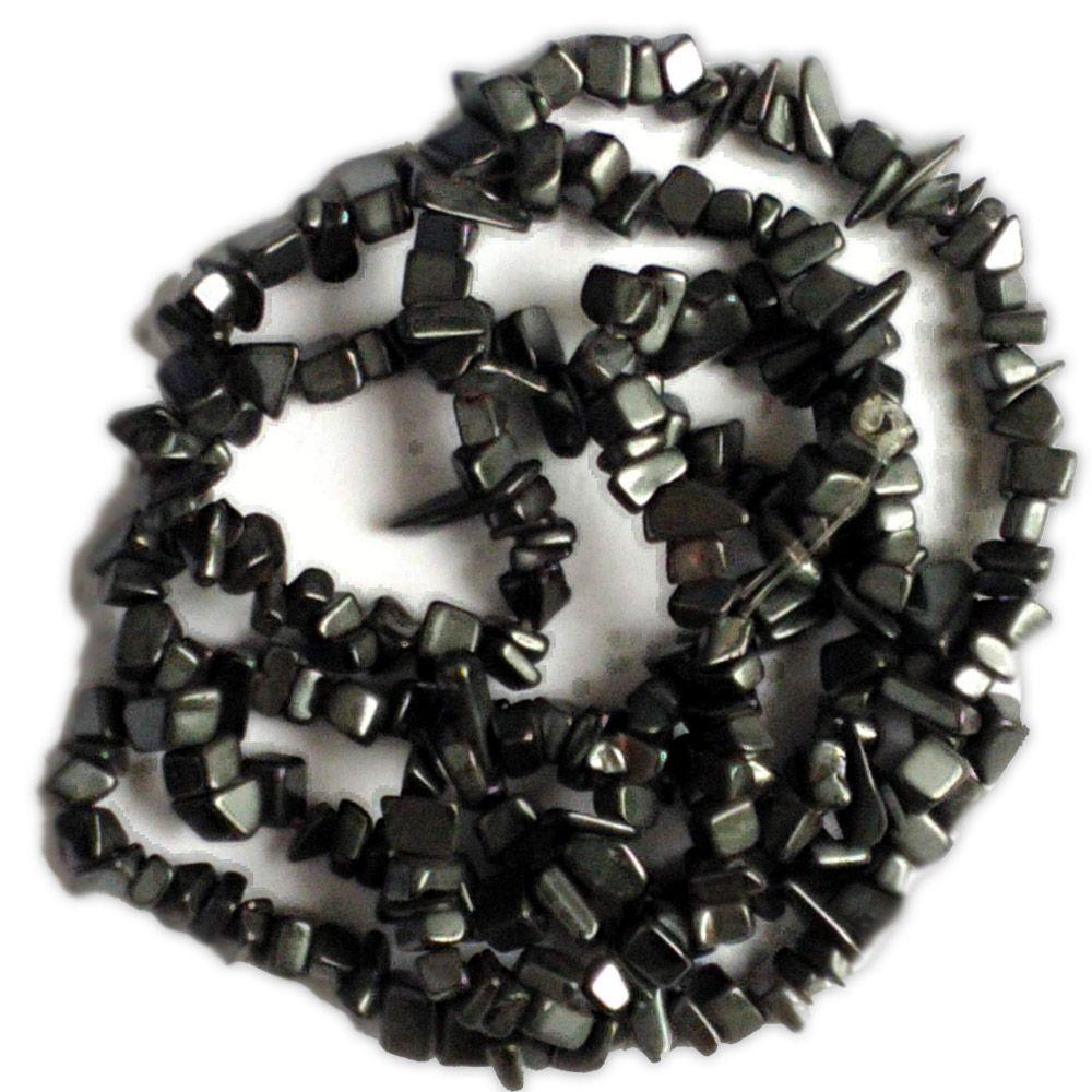 Colar de Pedras Naturais - Hematita