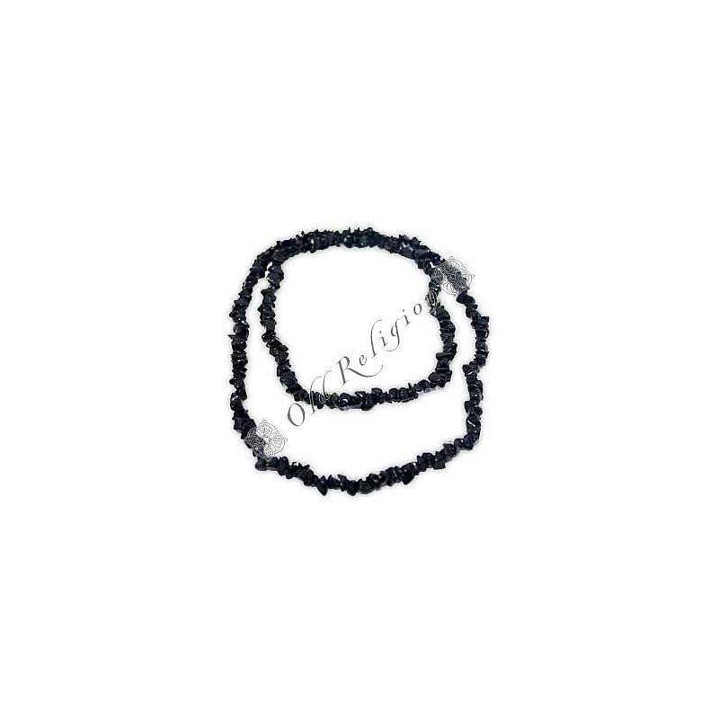 Colar de Pedras Naturais - Ônix