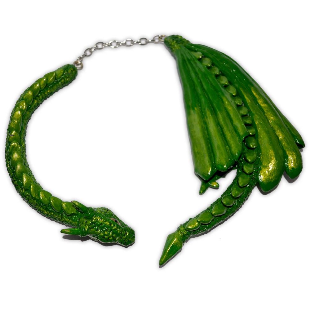 Colar Dragão verde