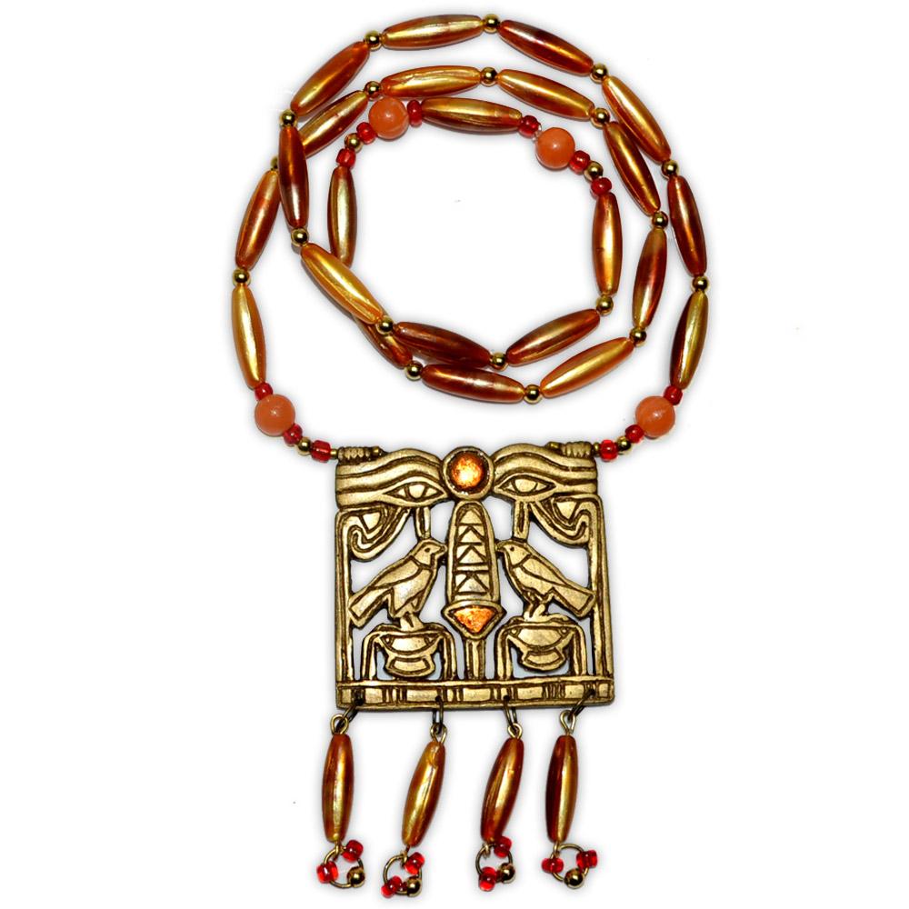 Talismã Colar Egípcio Peitoral Olho de Hórus - de Resina