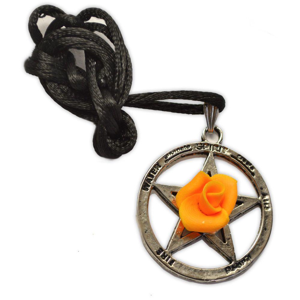 Colar - Pentagrama com flor