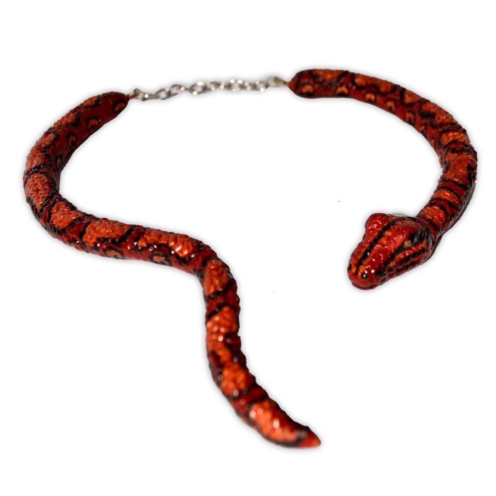 Colar Serpente vermelho