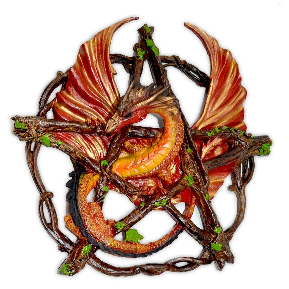 Imagem de Dragão no Pentagrama