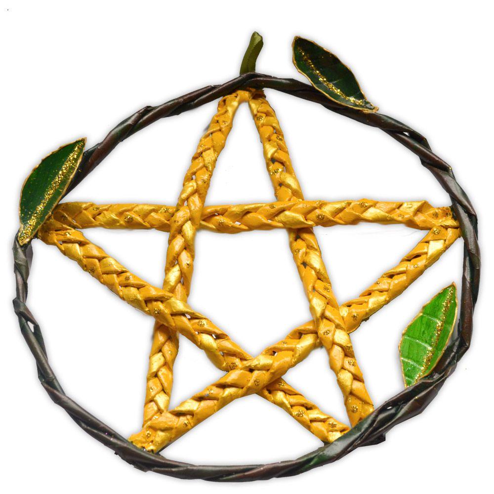 Pentagrama de Porta - Amarelo