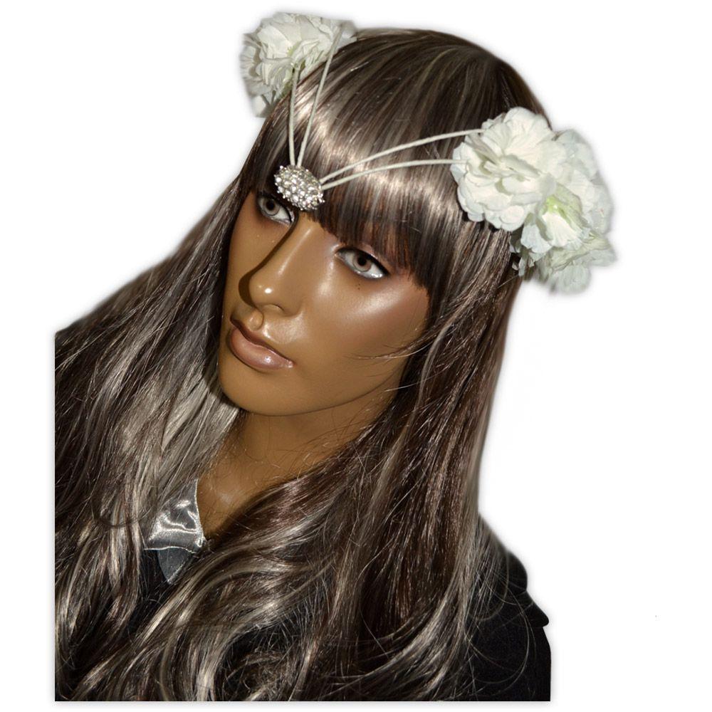 Coroa de Flores - Branco