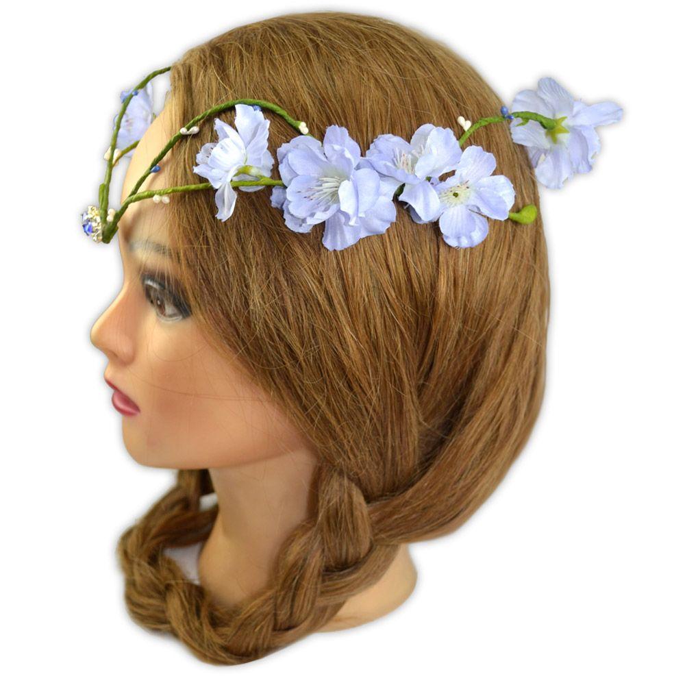 Coroa de Flores Azul