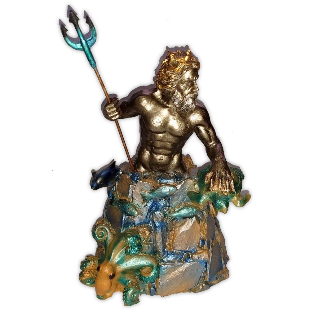 Deus Poseidon ou Netuno - Colorida