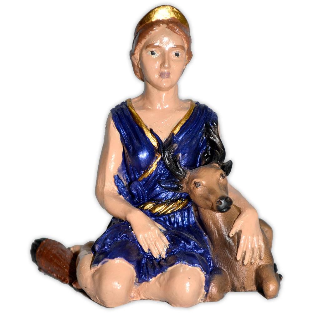 Deusa Diana pequena - Colorida
